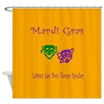 Mardi Gras Masks Rouler Shower Curtain