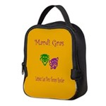 Mardi Gras Masks Rouler Neoprene Lunch Bag