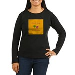 Mardi Gras Masks Women's Long Sleeve Dark T-Shirt