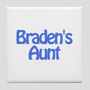 Braden's Aunt Tile Coaster