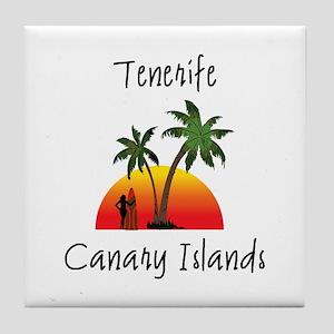 Tenerife Canary Islands Tile Coaster