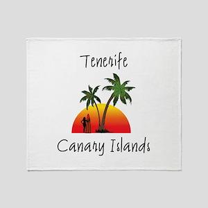 Tenerife Canary Islands Throw Blanket