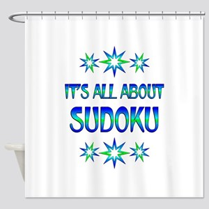 All About Sudoku Shower Curtain