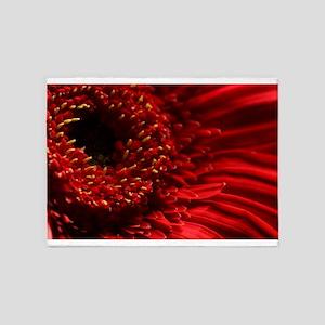 Red Gerbera Daisy 5'x7'Area Rug