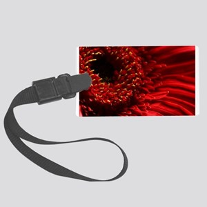 Red Gerbera Daisy Luggage Tag