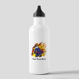 Custom Wizard Design Water Bottle