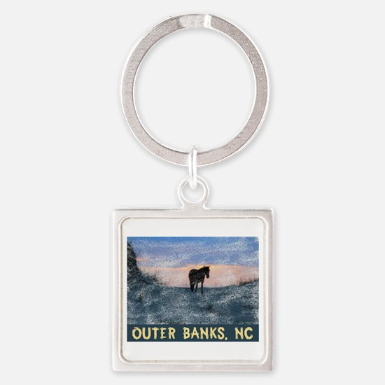 Funny Obx Square Keychain