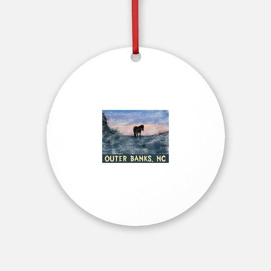 Cute Outer banks north carolina Round Ornament