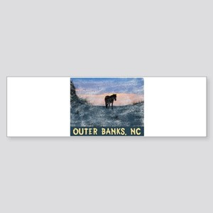 Outer Banks Dune Wild Horse Bumper Sticker