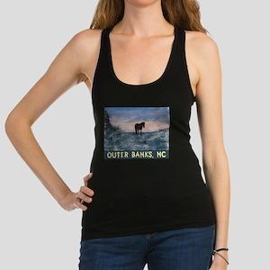 Outer Banks Dune Wild Horse Racerback Tank Top