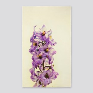 Purple Larkspur Delphinium Area Rug
