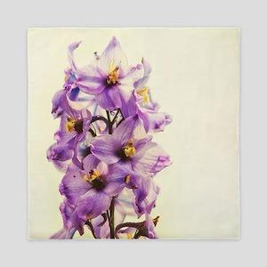 Purple Larkspur Delphinium Queen Duvet