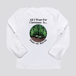 Xmas Peas on Earth Long Sleeve T-Shirt