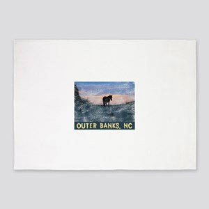 Outer Banks Dune Wild Horse 5'x7'Area Rug