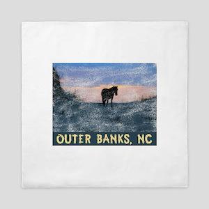 Outer Banks Dune Wild Horse Queen Duvet