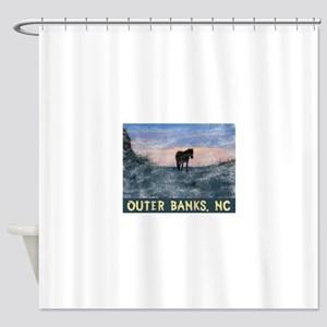 Outer Banks Dune Wild Horse Shower Curtain
