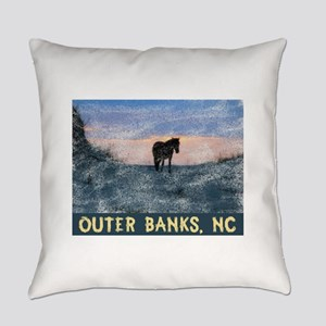 Outer Banks Dune Wild Horse Everyday Pillow
