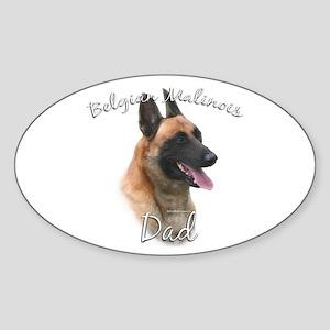 Malinois Dad2 Oval Sticker