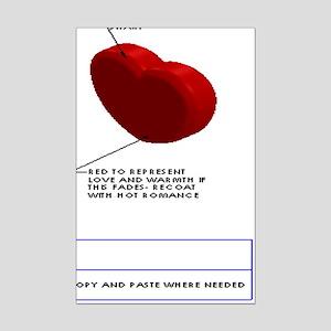 Anatomy of a Heart Mini Poster Print