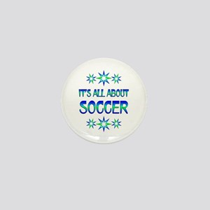 All About Soccer Mini Button