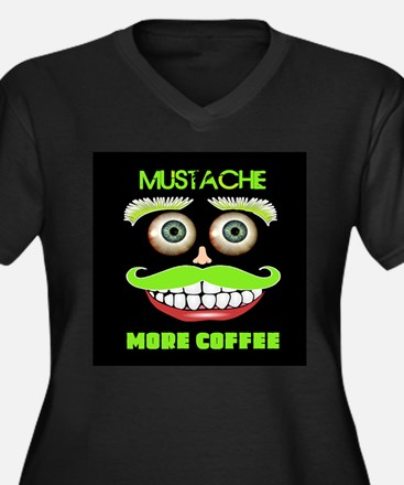 Mustache more Coffee Plus Size T-Shirt