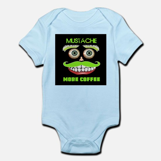 Mustache more Coffee Body Suit