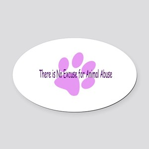 no-excuse Oval Car Magnet