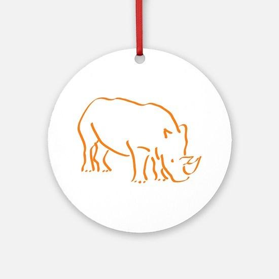 Cute Rhino Round Ornament