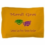 Mardi Gras Masks Rouler Pillow Sham