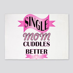 single mom cuddle better 5'x7'Area Rug