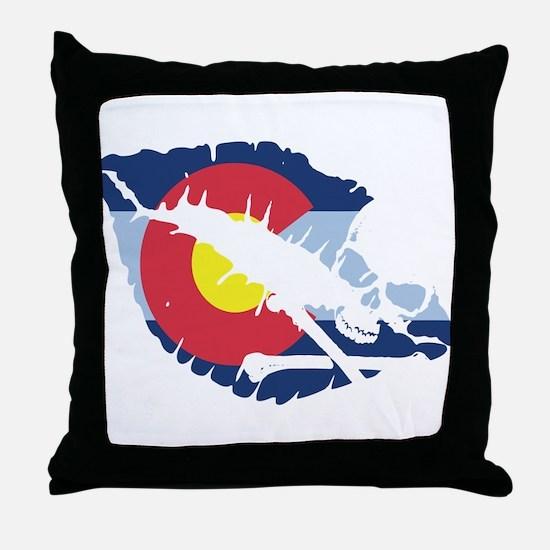 colorado kiss Throw Pillow