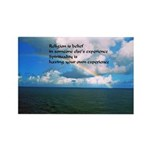 Spirituality, a Belief Rectangle Magnet (10 pack)