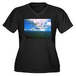 Spirituality Women's Plus Size V-Neck Dark T-Shirt