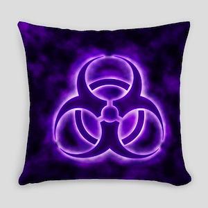 Purple Biohazard Symbol Everyday Pillow