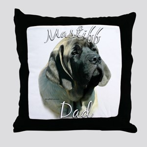 Sheepdog Dad2 Throw Pillow