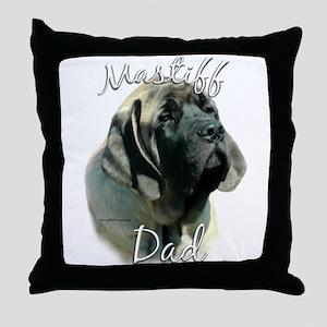 Sheepdog Dad2 Throw Pillow
