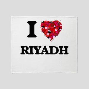 I love Riyadh Saudi Arabia Throw Blanket