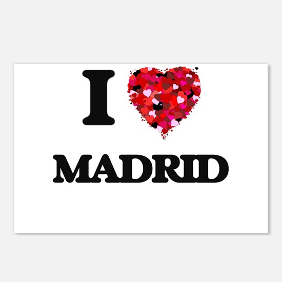 I love Madrid Spain Postcards (Package of 8)