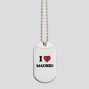 I love Madrid Spain Dog Tags