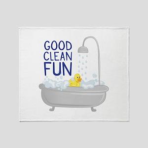Good Clean Fun Throw Blanket