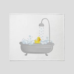 Rubber Duck Bath Throw Blanket