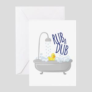 Rub A Dub Greeting Cards