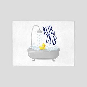 Rub A Dub 5'x7'Area Rug