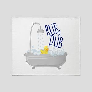 Rub A Dub Throw Blanket