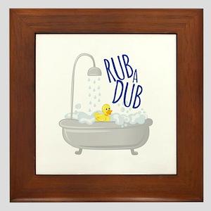 Rub A Dub Framed Tile