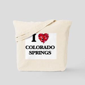 I love Colorado Springs Colorado Tote Bag