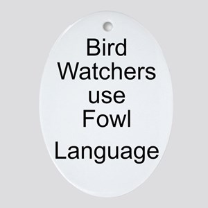 Bird Watchers Oval Ornament