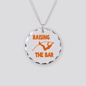 POLE VAULTING Necklace Circle Charm