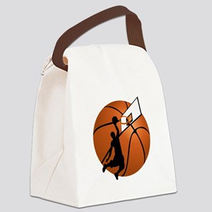 Slam Dunk Basketball Player w/Hoo Canvas Lunch Bag