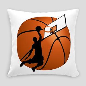 Slam Dunk Basketball Player w/Hoop Everyday Pillow
